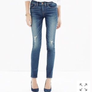 • Madewell • Skinny Skinny Jeans Knee-Rip Edition